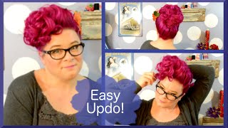 Vintage Poodle Bang Updo - Valentine's Hair Tutorial