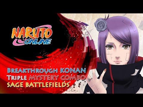 Naruto Online - Breakthrough Konan: Triple Mystery Combo | Sage Battlefields