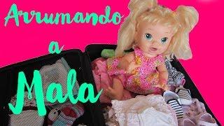 Novelinha - Como Arrumar a Mala de Viajem da Baby Alive Bia - baby alive dolls - clubinho da laura
