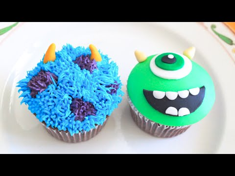Monsters Inc, Mike and Sully Cupcakes!