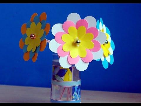 Как вырезать из бумаги цветок
