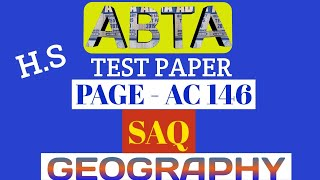 Download ABTA test paper H.S | geography SAQ | 2020 | Page AC 146