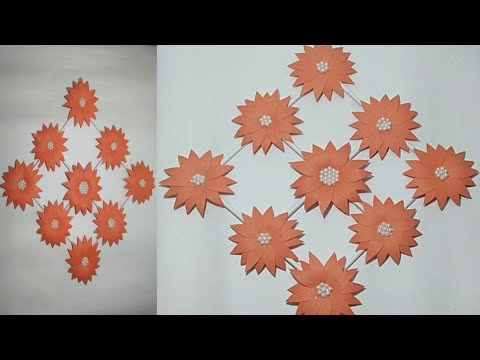 Diy sunflowers ।। Wall hanging using craft paper ।।room decorating ideas।।