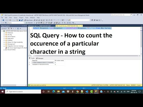 SQL Query   Count The Occurrence Of A Character In A String