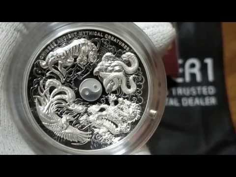 First on Youtube! - Chinese Ancient Mythical Creatures 2015 5oz Silver Proof High Relief Coin