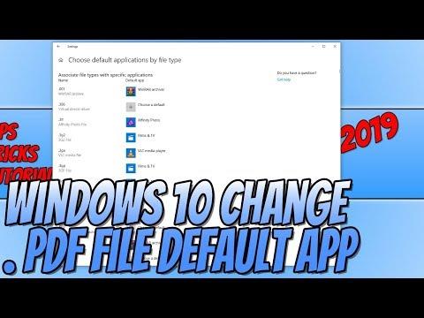 Set Adobe Reader As Default APP For PDF Files Tutorial thumbnail