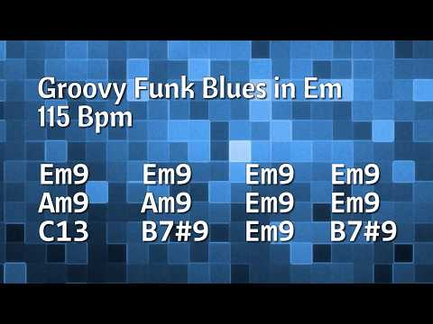Funky & Groovy Blues Backing Track in E Minor - 115 Bpm