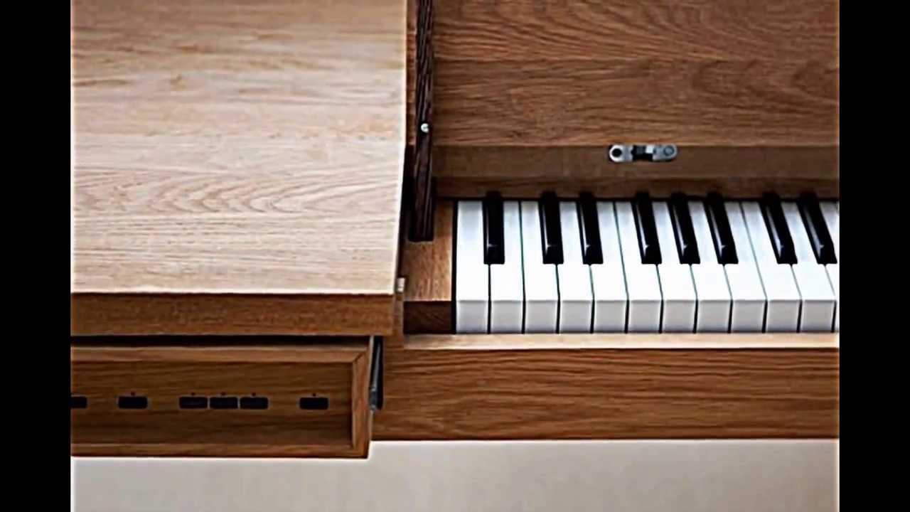 Incroyable Piano Table    Eichenholz Tisch Mit Verstecktem Klavier Von Georg Bohle    YouTube