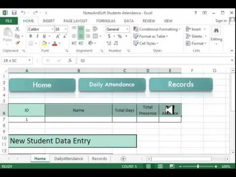 Excel VBA project Project on Daily Attendance Sheet Using Macro – Daily Attendance Template