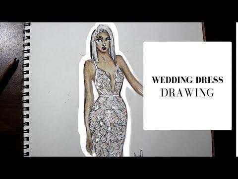 WEDDING DRESS DRAWING | BERTA BRIDAL | FASHION ILLUSTRATION