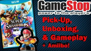 Super Smash Bros. for Wii U Pick-Up, Unboxing, & Gameplay + Amiibo! (60FPS)