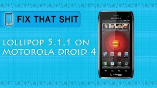 How To Install Lollipop 5.1.1 on Motorola Droid 4 Tutorial(Here I'm showing you how to install custom rom Lollipop 5.1.1 on your Motorola Droid 4. You must have rooted device. For that watch my rooting tutorial here: ..., 2015-10-11T21:28:39.000Z)