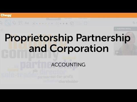 Proprietorship, Partnership, And Corporation | Accounting | Chegg Tutors