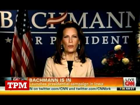Michele Bachmann Talks John Wayne Gaffe