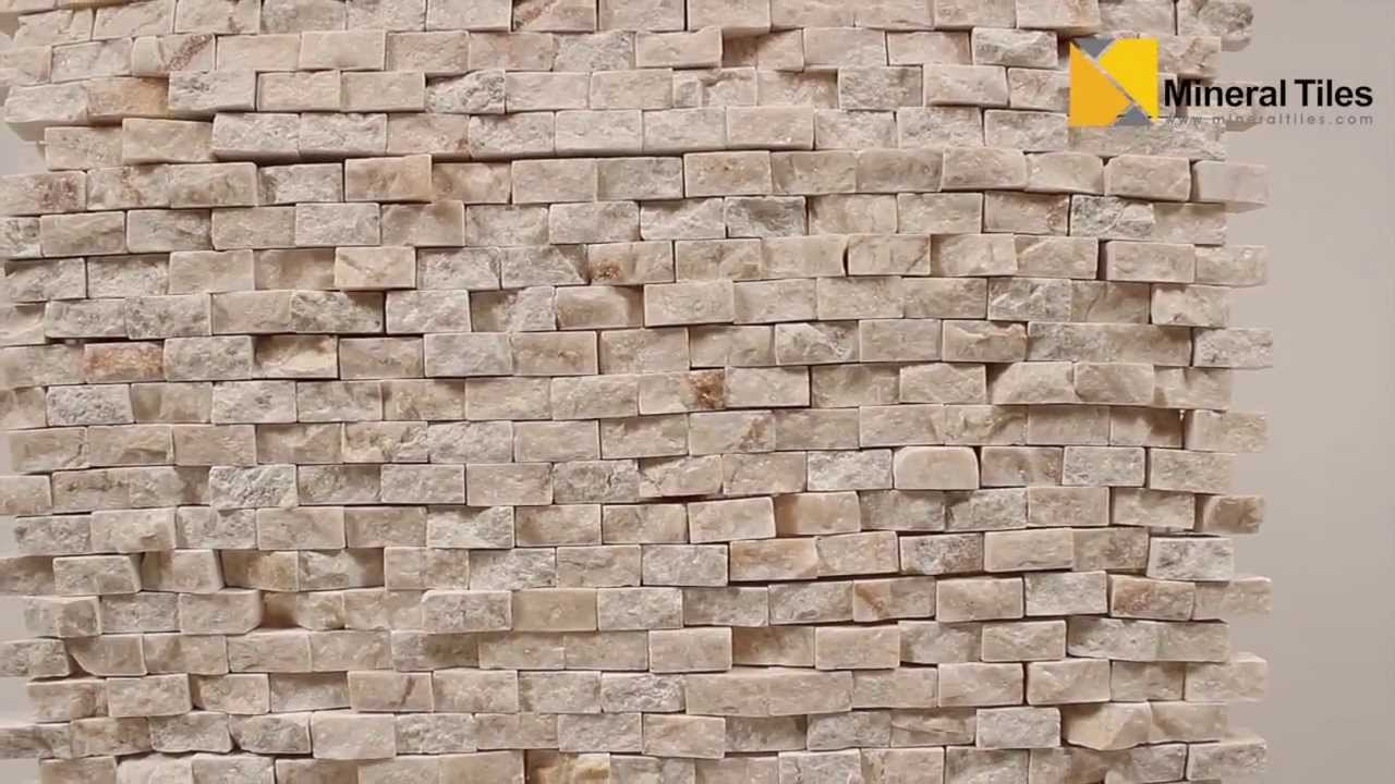 Mini split face stone tile crema marfil 120sapssscm youtube dailygadgetfo Images