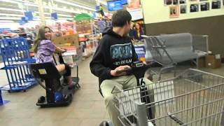 Walmart Funny Moments - (cart Flying, Paper Towel Fort, Electric Scooter, Paper Towel Dancing)