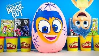 INSIDE OUT JOY GIANT Play-Doh Surprise Egg My Little Pony Shopkins Doc McStuffins | Kinder Playtime