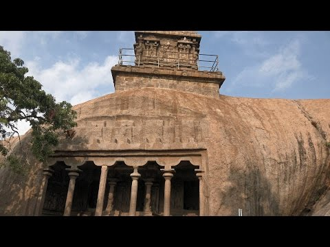 Monuments at Mahabalipuram , Tamil Nadu, India in 4K (Ultra HD)