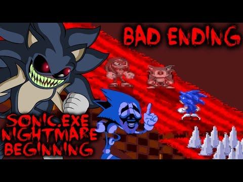 SONIC.EXE NIGHTMARE BEGINNING - THE DARK SIDE OF SONIC'S MIND? [Bad Ending]