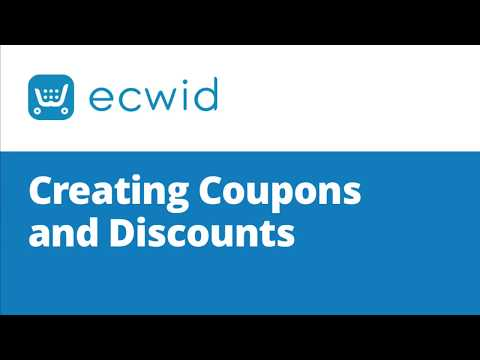 Creating Coupons and Discounts