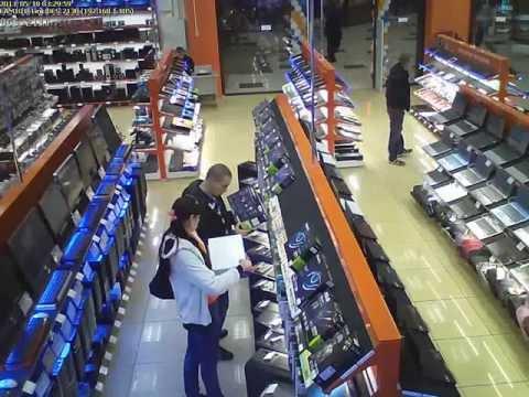 Как воруют в магазине ДНС.