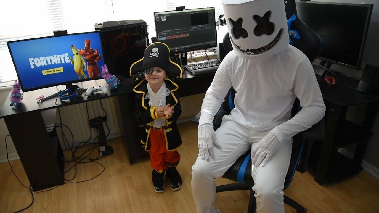 Marshmello & *5 YEAR OLD KID* Duo Fortnite GamePlay ...