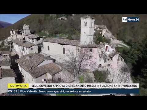 RaiNews24 Servizio sul terremoto a Castelsantangelo sul Nera