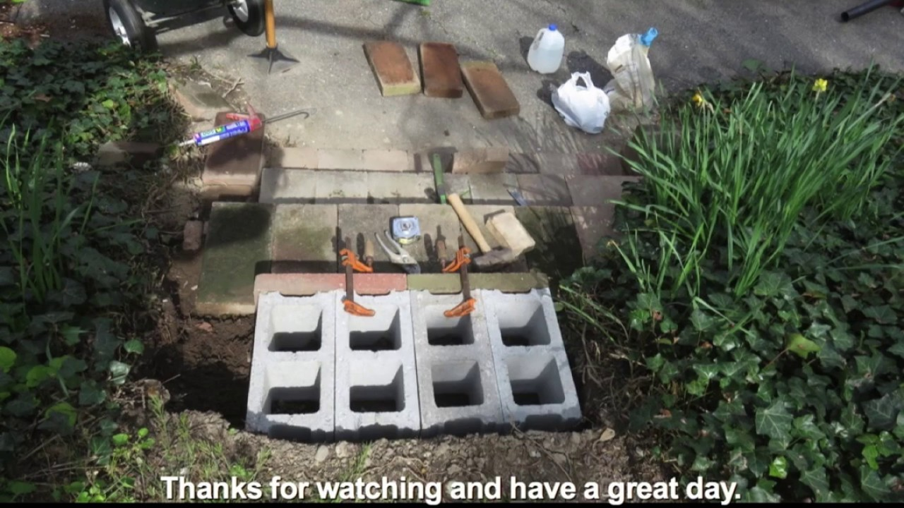 Landscaping Steps With Pavers And Cinder Blocks Youtube