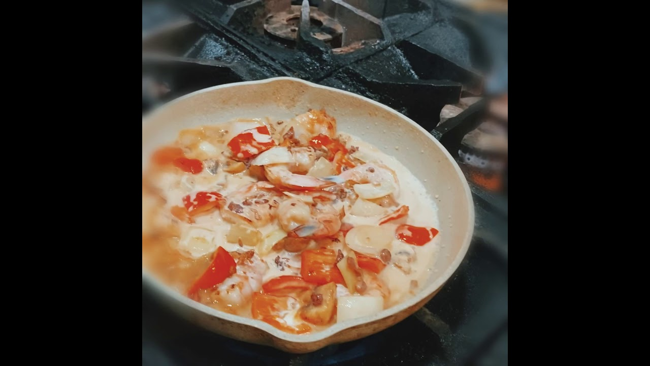 Shrimp Carbonara Explorer Food Style