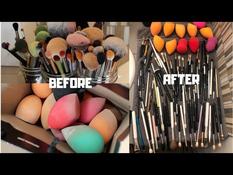 HOW TO CLEAN YOUR MAKEUP BRUSHES AND SPONGES SPOTLESS!