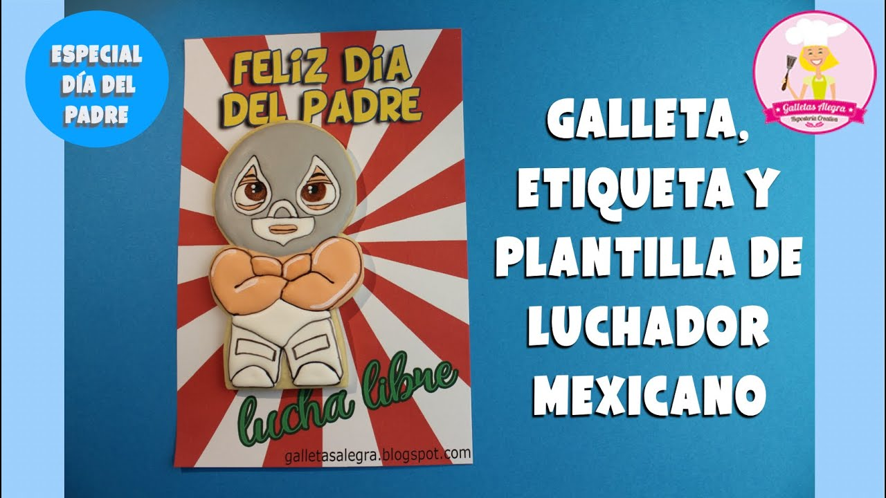 GALLETA DE LUCHADOR MEXICANO 🇲🇽  | DÍA DEL PADRE | ROYAL ICING | GALLETAS ALEGRA
