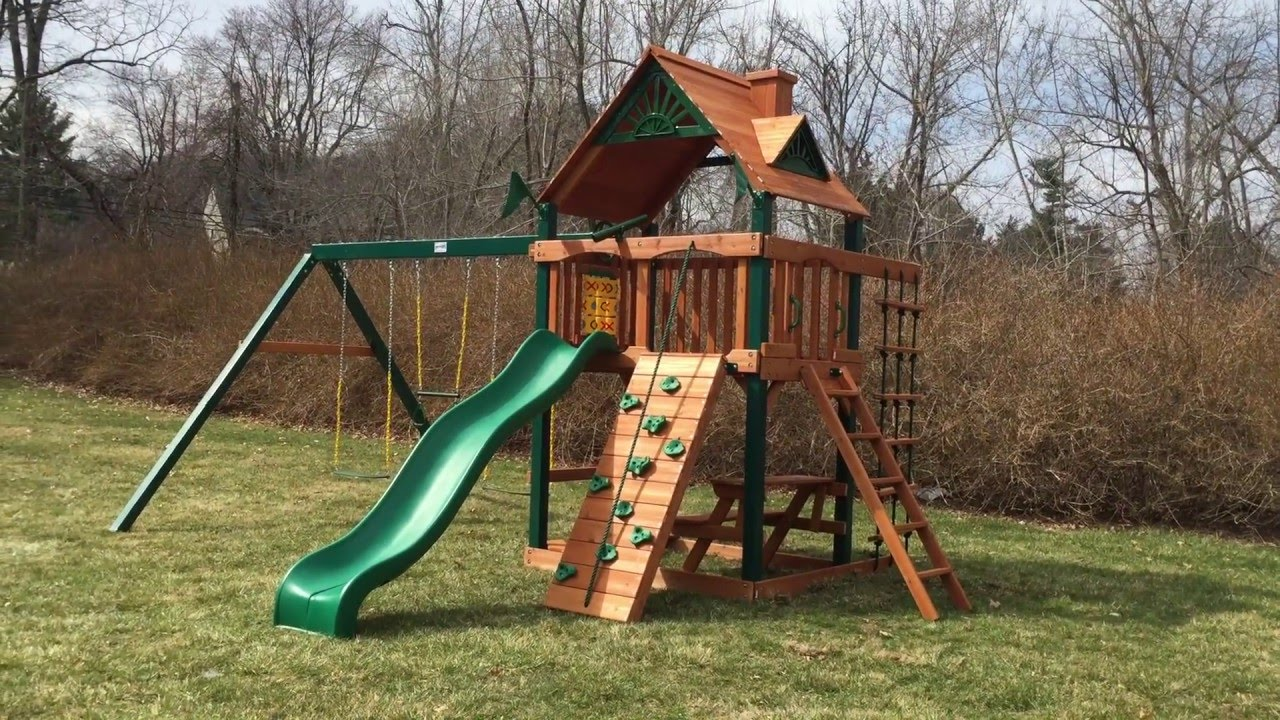 Gorilla Chateau Ii Swing Set Review Youtube