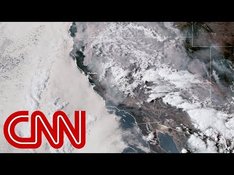 See 'apocalyptic' wildfires from space