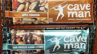 Caveman Foods: Apple Cinnamon & Dark Chocolate Almond Coconut Nutrition Bar Review