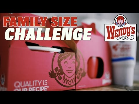 WENDY'S FAMILY SIZE CHALLENGE