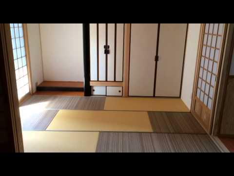 インテリアデザイン・6畳和室の実例・モダン乱敷き!