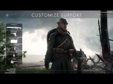 Battlefield 1 classes - assault, medic, support, scout, and engineer?