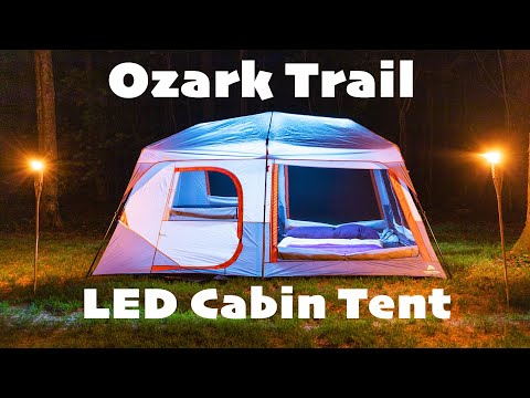 Ozark Trail 10 Person Instant Cabin Tent with LED Lights