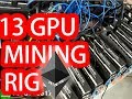 13 gpu ethereum mining rig SUCCESS on windows 10 !! -  Mining Setup in india