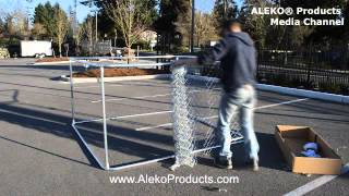 Aleko® Dog Kennel 7 1/2' X 7 1/2' X 4' Diy Box Kennel Chain Link Dog Pet System