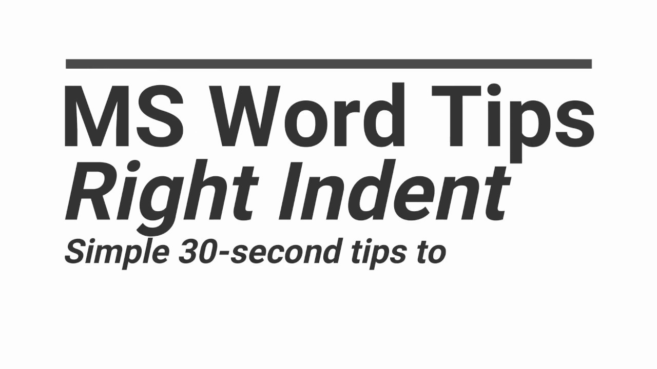 Resume Tips | Right Indent | MS Word | Quick Tips To Upgrade Your ...