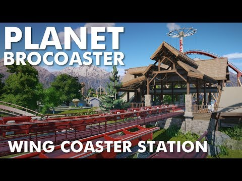 Planet Brocoaster - Wing Coaster Station Building
