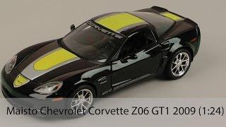 Розпакування Maisto Chevrolet Corvette Z06 GT1 2009 (1:24)