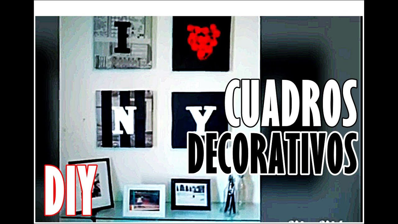 Cuadros para decorar diy holayosoyrafa youtube for Cuadros pequenos para decorar