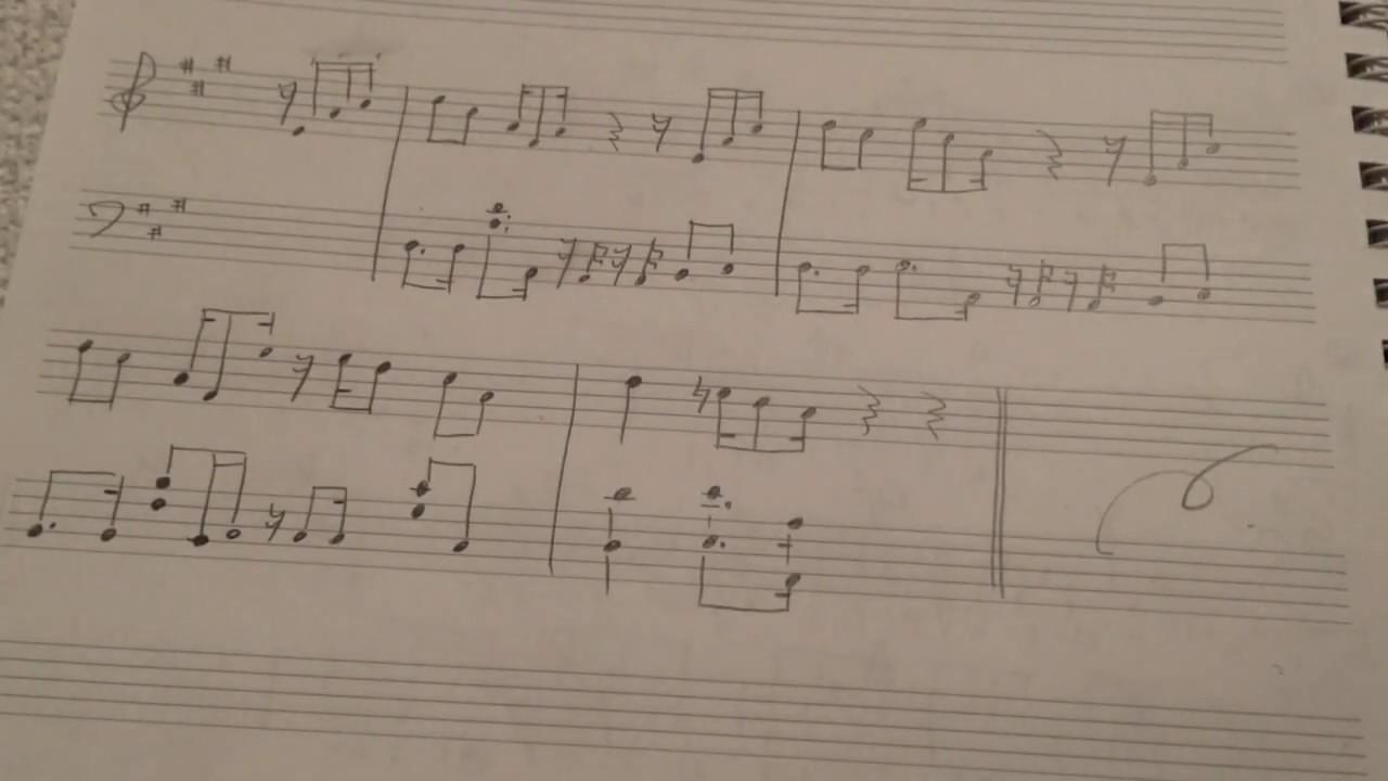 ひょっこりはん BGM ピアノ用に楽譜を書きました おもしろ荘