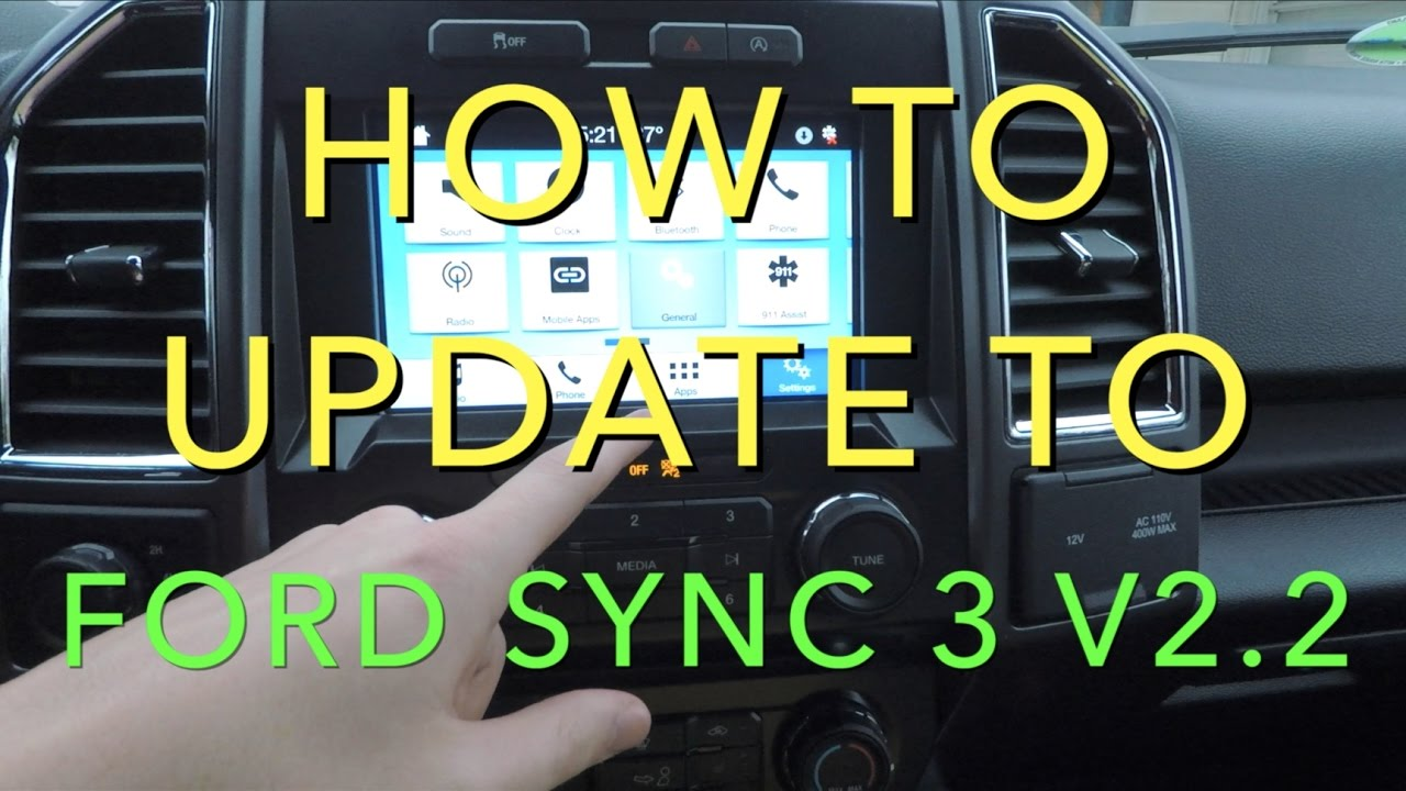 how to update to ford sync 2 2 youtube. Black Bedroom Furniture Sets. Home Design Ideas
