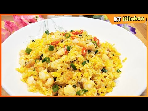 salted-fish-fried-rice-with-shrimp---best-recipe---english-caption