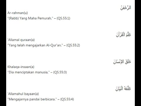Ar-Rahman (QS.55) with text and Indonesia Translate