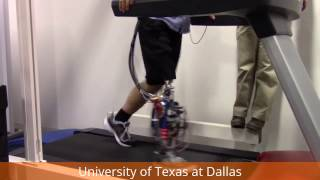 Amputee Fast Walking up to 3.0 mph on the UTD Powered Prosthetic Leg