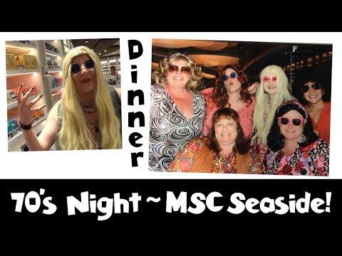 Shopping in Port & 70's Night Dinner on the Ship! MSC Seaside Cruise Vlog [ep16]